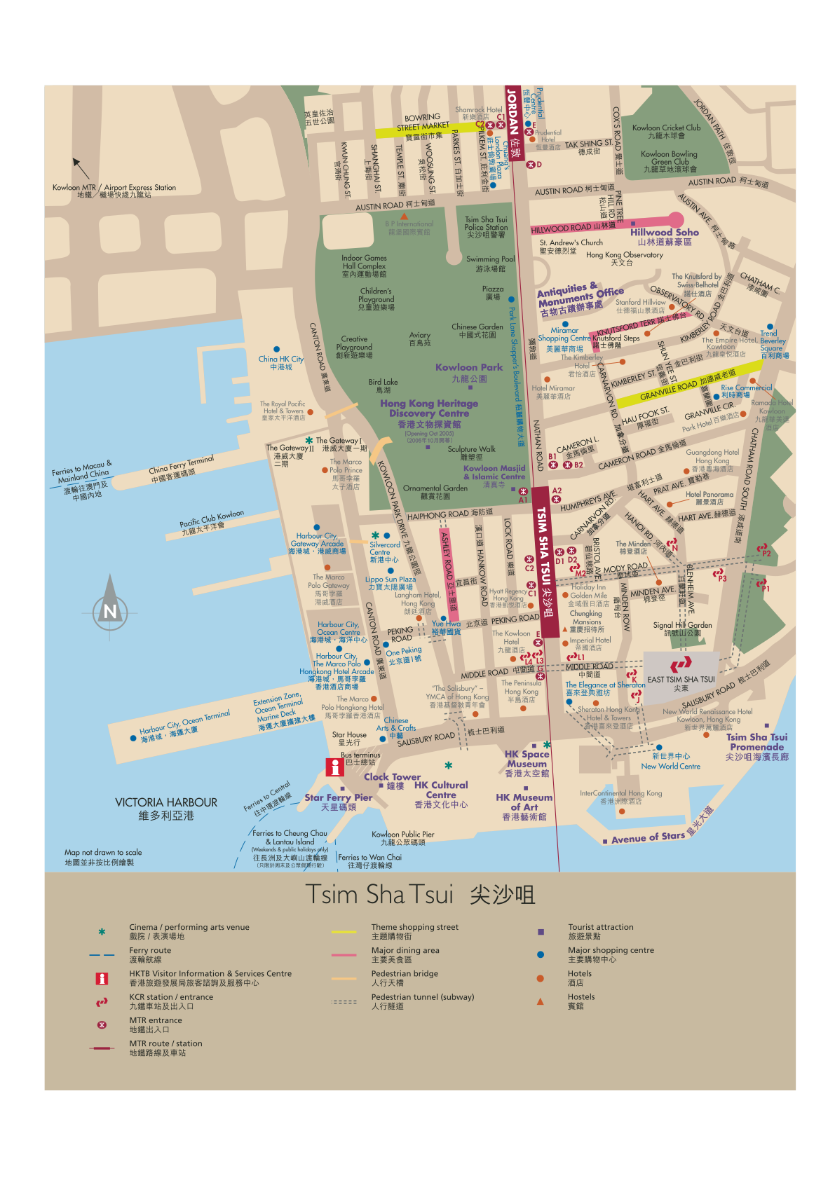 Hong Kong Tsim Sha Tsui Map